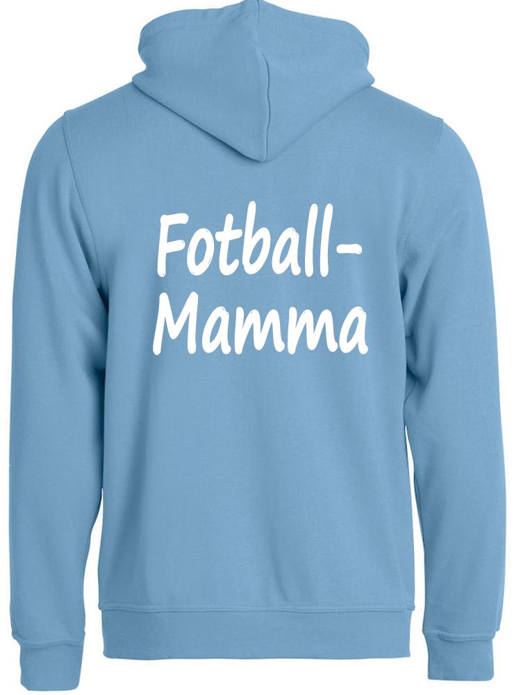 Fotball-mamma hettejakke, Lyseblå