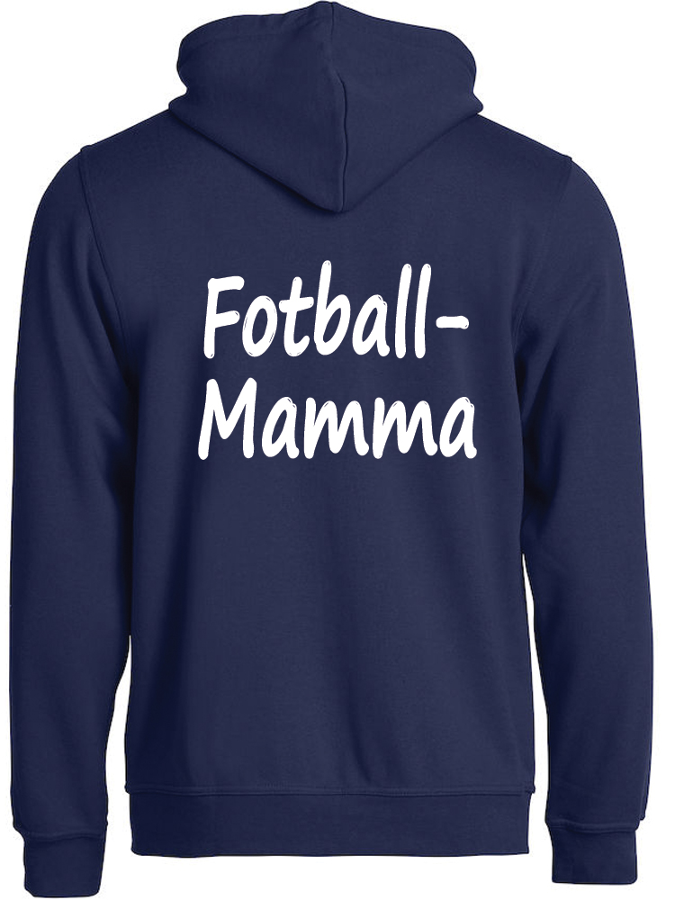 Fotball-mamma hettejakke, Mørk marine