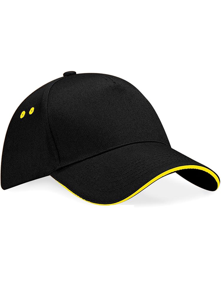 Caps Beechfield Ultimate Color_Svart med gult