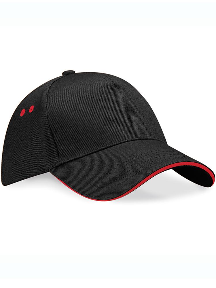 Caps Beechfield Ultimate Color_Svartgraa med-roedt