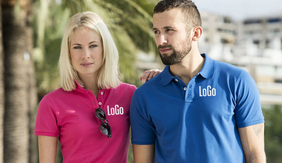 Pique-skjorter Med Logo; Stretch Premium Polo